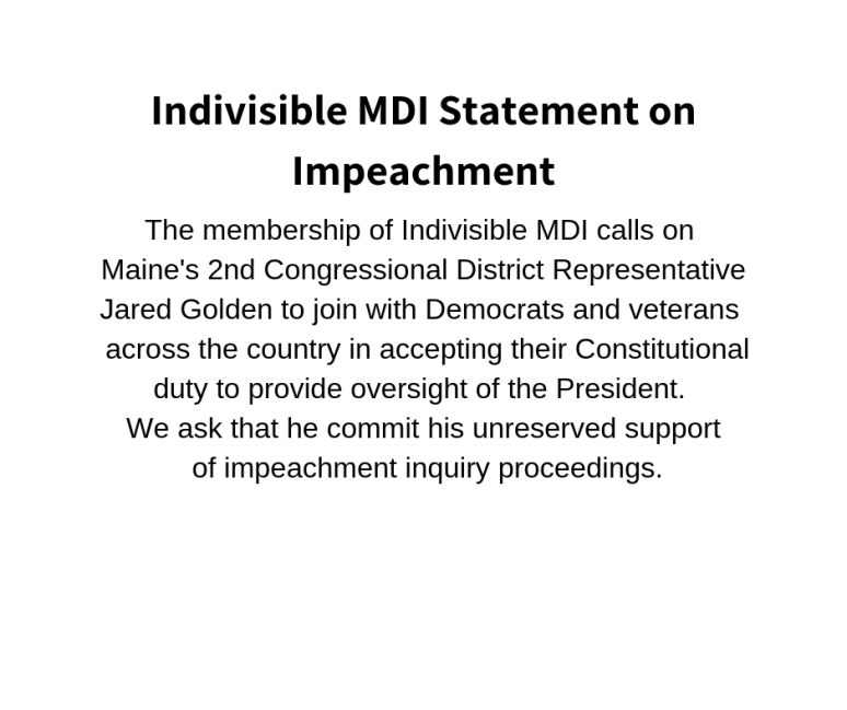 Statement on Impeachment FB